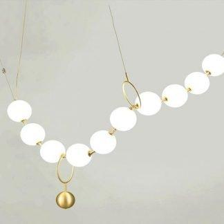 Cynerik Elegant Pearl Necklace Shaped Pendant Light