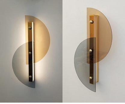 Dahnya Geometric Dual Hemisphere Glass Wall Lamp Cafe lights