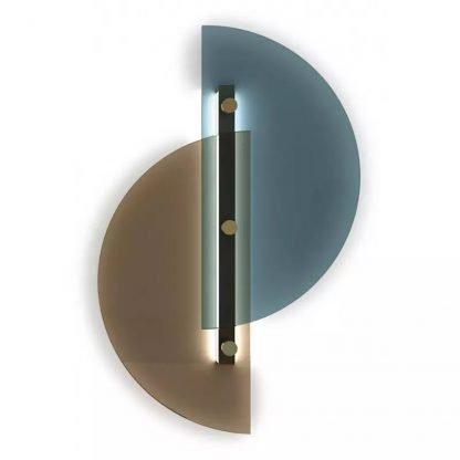 Dahnya Geometric Dual Hemisphere Glass Wall Lamp Entrance lights