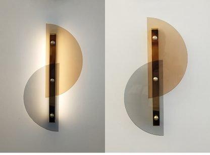Dahnya Geometric Dual Hemisphere Glass Wall Lamp Industrial Lightings