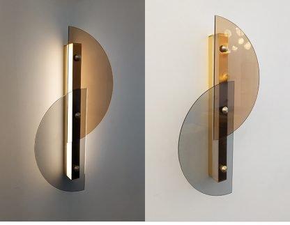 Dahnya Geometric Dual Hemisphere Glass Wall Lamp Lounge lights