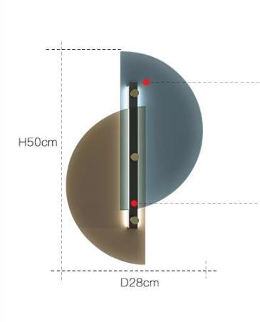 Dahnya Geometric Dual Hemisphere Glass Wall Lamp Modern Lightings