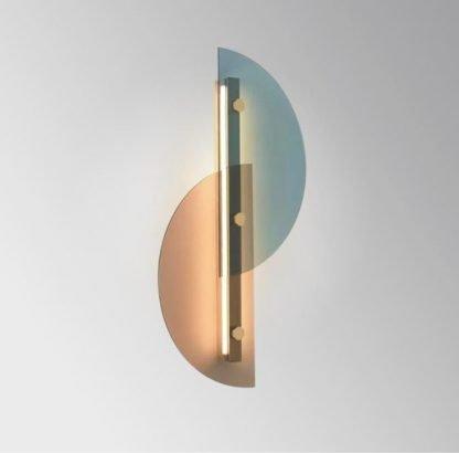 Dahnya Geometric Dual Hemisphere Glass Wall Lamp Office lights