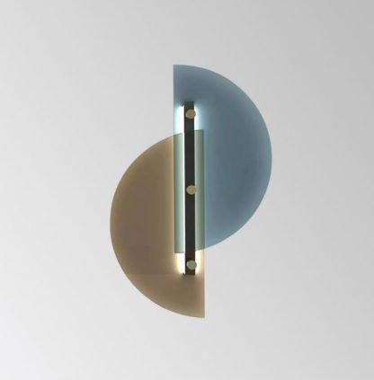 Dahnya Geometric Dual Hemisphere Glass Wall Lamp Workplace lights