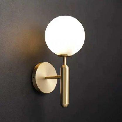 Delray Elegant Impressive Spherical Glass Wall Lamp