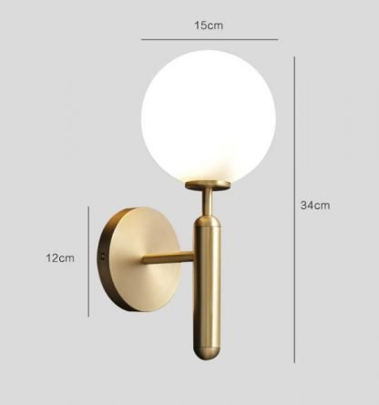 Delray Elegant Impressive Spherical Glass Wall Lamp Entrance lights