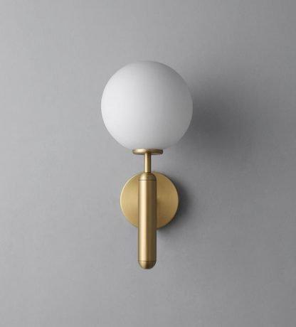 Delray Elegant Impressive Spherical Glass Wall Lamp Gold Workplace lights
