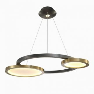 Dugal Eye-Catching Circular Rings Pendant Light