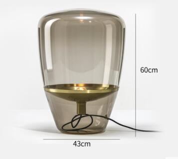 Dugal Glorious Cylindrical Glass Table Lamp Scandinavian Lightings
