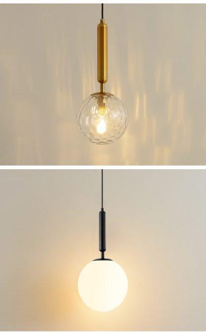 Eddrick Minimalist Globe Patterned Glass Pendant Light Modern lights
