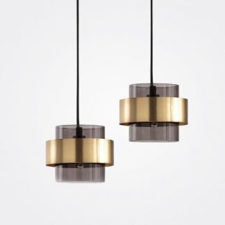 Edeen Minimalist Cylindrical Glass Pendant Light