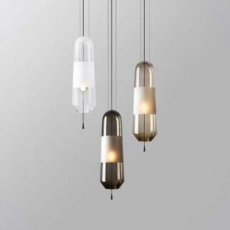 Froille Minimalist Glass Container Shaped Pendant Light