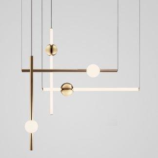Haethowine Nordic Minimalist Line Milk White Ball Pendant Light