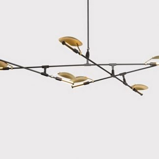 Heathcliff Industrial Flying Plates Metal Pendant Light