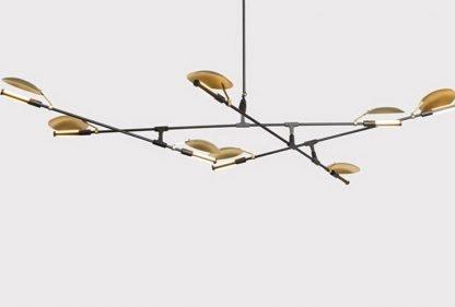 Heathcliff Industrial Flying Plates Metal Pendant Light
