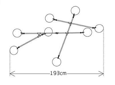 Heathcliff Industrial Flying Plates Metal Pendant Light Modern Lightings