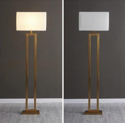 Heathclyf Classic Two-Legged Rectangular Floor Lamp Modern Lightings