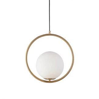 Jaak Modern Ring Globe Glass Pendant Light