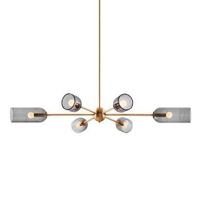 Jewel Modern Tubular Rotor Shaped Pendant Light Bedroom lights