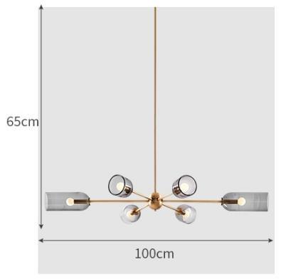 Jewel Modern Tubular Rotor Shaped Pendant Light Modern Lightings