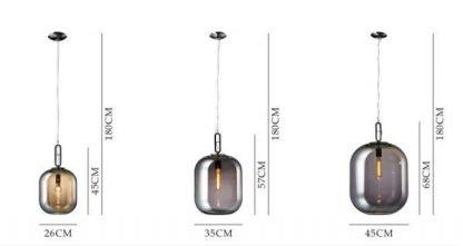 Jianna Rustic Jar Shaped Glass Pendant Light Modern lights