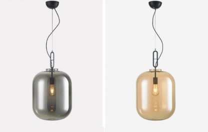 Jianna Rustic Jar Shaped Glass Pendant Light Workplace lights