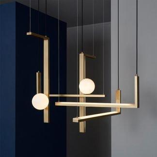 Jilian Minimalist L-Shaped Metal Pendant Light