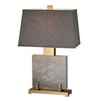Kaarle Elegant Square Shaped Marble Base Table Lamp