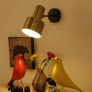 Kalonice Minimalist Contemporary Golden Handbell Wall Light