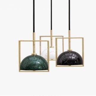 Konni Luxury Geometric Marble Pendant Light