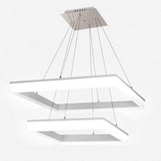 Konstantine Minimalist Squarish Frame Pendant Light