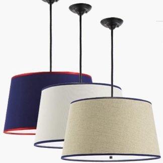 La-Cienega Cozy Attractive Drum Shaped Cotton Pendant Light