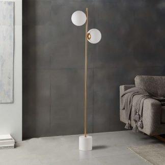 Labhaoise Minimalist Contemporary Globes Vertical Floor Lamp