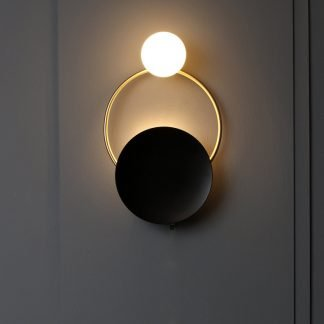 Naal Modern Chic Dual Circle Globe Wall Lamp