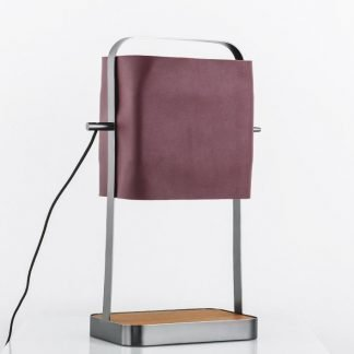 Nab Contemporary Rectangular Prism Leather Table Lamp