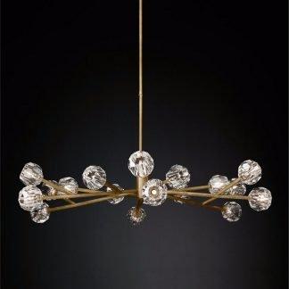 Oakes Modern Diamond Shaped Glass Balls Pendant Light