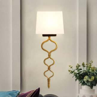 Odanodan Modern Contemporary Gold Leaf Wall Light
