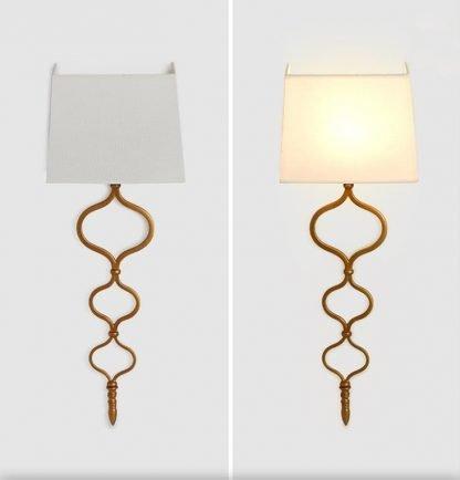 Odanodan Modern Gold Leaf Wall Light-vanity mirror