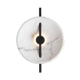Overton Modern Marble Shade Semicircle Wall Lamp
