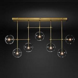 Pabiyan Modern Industrial Lines Sphere Glass Pendant Light