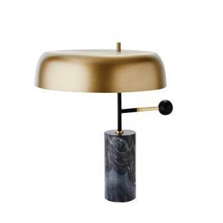 Pabla Elegant Mushroom Shaped Marble Base Table Lamp