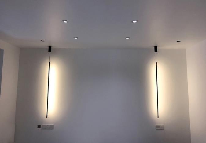 Priestly Minimalist Metal Long Thin Pendant Light Light Atelier