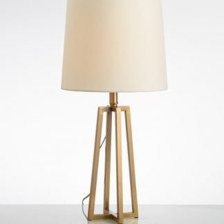 Tabbart Contemporary Drum Four Legged Base Table Lamp