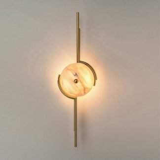 Uchdryd Modern Elegant Sphere Marble Wall Light