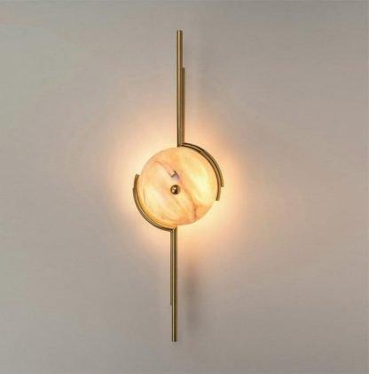 Uchdryd Modern Elegant Sphere Marble Wall Light
