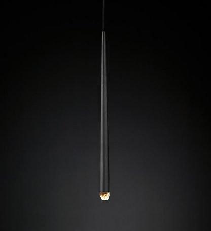 Wadley Modern Water Drop Shaped Pendant Lamp-black