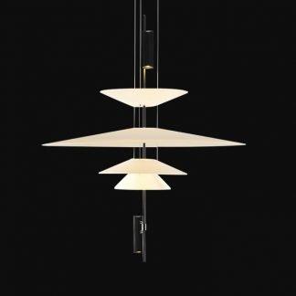 Yalena Scandinavian Flaying Plate Chandelier Light