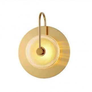 Zacarias Modern Art-Deco Disk Wall Lamp