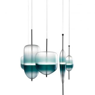 Aldwine Art Deco Glass Pendant Light