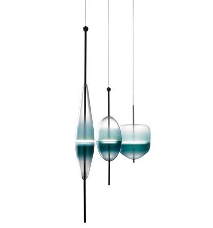 Art Deco Glass Corridor Pendant Light